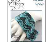 Peyote Pattern - Air and Water Peyote Cuff / Bracelet  - A Sand Fibers For Personal/Commercial Use PDF Pattern