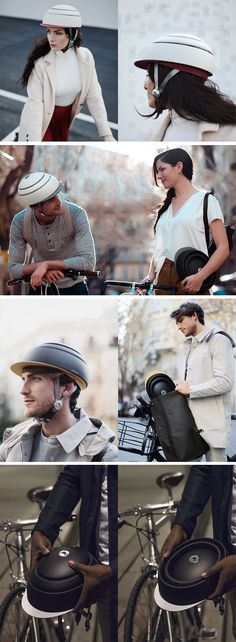 Most two-wheel commuters don't carry helmets because of how bulky they are.  The Fuga helmet by Closca really achieves the impossible in that regard. The helmet has a telescopic design that folds inwards, becoming a rather slim and flat piece of plastic that can easily fit into any bag.