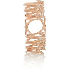 Katie Rowland Morrigan Venom crystal rose gold-plated ring