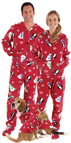 Matching PJs for the whole family! Christmas Footie Pajamas 675986307