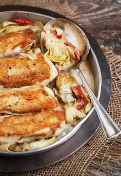 Chicken with Artichoke and Sun-Dried Tomatoes 1 pan