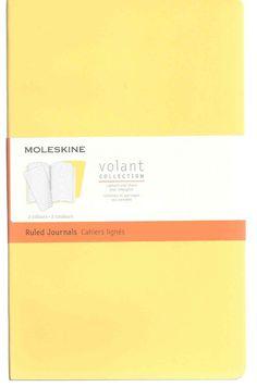 Moleskine Volant Journal - Set of 2:, Ruled, Sunflower, Brass