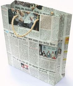 15 Best Handmade Eco Friendly Paper Bags for Shopping Diy Newspaper Bags, Recycle Newspaper, Newspaper Paper, Paper Bag Design, Diy Paper Bag, Craft Packaging, Magazine Crafts, Eco Friendly Paper, Glue Crafts