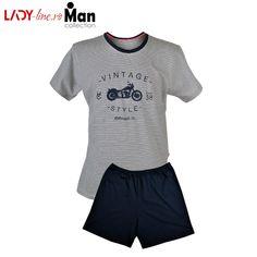 Pijama Barbati Muzzy, 'Vintage Style' Vintage Style, Vintage Fashion, Men's Collection, Trunks, Pajamas, Football, Lady, Swimwear, Mens Tops