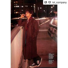 Repost @lol_company Autumn fashion man, Fall star look Marie Claire ・・・It looks great with Kim Jae Joong