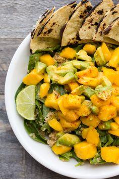 Chili-Lime Mango Avocado Quinoa Power Salad