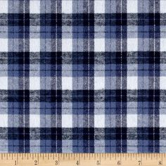 This soft double napped (brushed on both sides) lightweight (4.3 oz per square yard) flannel is perfect for shirts, loungewear and more! Features a yarn dyed plaid of blue and white. Remember to allow extra yardage for pattern matching.