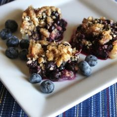 Fresh blueberries and cookie dough make these delicious pie bars!