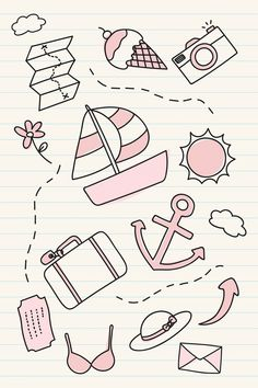 More Than 60 Hand Drawn Travel Element Vector Set Free Image By Rawpixel vector … – Bullet journal Bullet Journal Mood, Bullet Journal Ideas Pages, Bullet Journal Inspiration, Simple Doodles, Cute Doodles, Travel Doodles, Main Image, Doodle Frames, Easy Doodle Art