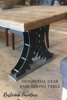 Check out this beautiful steel steampunk gear table. It would make any dining room look awesome. Check out this beautiful steel steampunk gear table. It would make any dining room look awesome. Welded Furniture, Steampunk Furniture, Industrial Design Furniture, Steel Furniture, Ikea Furniture, Colorful Furniture, Rustic Industrial, Custom Furniture, Furniture Makeover