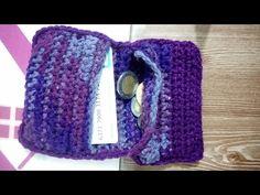 Crochet monedero (doble cierre) Modelo fácil y rápido - YouTube