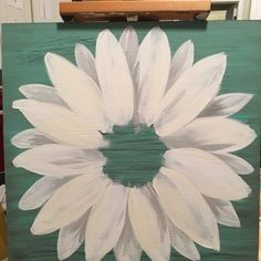 Updates from ClarabelleArte on Etsy Daisy Painting, Painting On Wood, Painting & Drawing, Cute Canvas Paintings, Canvas Art, Wall Paintings, Flower Paintings, Arte Country, Acrylic Painting Techniques