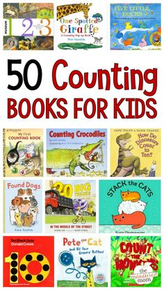 Check out this huge list of counting book for kids in preschool and kindergarten! Use these books to teach kids to count skip counting, and more! It includes a printable book list, too. Counting For Kids, Counting Books, Counting Activities, Phonics Activities, Math Games, Skip Counting, Christmas Activities, Classroom Activities, Toddler Activities
