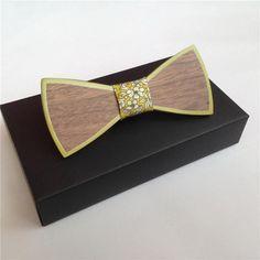 Butterfly Zebra wood Tie