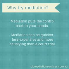 Why try #mediation?