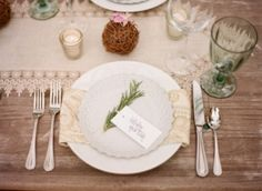 place setting herbs - Google Search