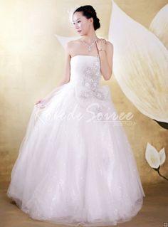 Robe de Mariée Princesse-robe de mariée sur mesure, robe de mariage pas chéres couleur robe