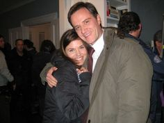 awww Posted by @jeffeastin on Twitter White Collar archive: Tim and Tiffany after pilot wrap last year