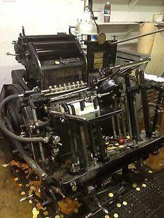 Heidelberg Windmill Redball Printing Press Letterpress   eBay