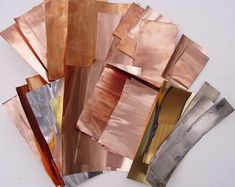 Tooling Foil Copper, Aluminum & Brass sheet for Craft metal tooling & embossing: all sizes & Fast Shipping Copper Art, Copper Metal, Copper Jewelry, Metal Embossing, Metal Stamping, Metal Projects, Metal Crafts, Copper Crafts, How To Clean Gold