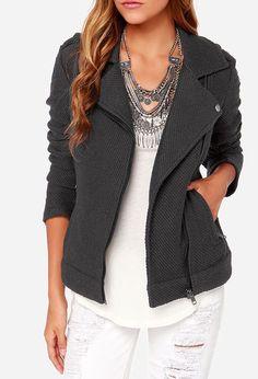 Dakota Allesa Grey Sweater Jacket