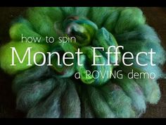 How to Spin Monet Effect Yarn - YouTube