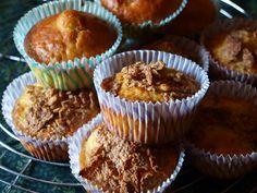 muffins con albicocche secche, mandorle e cereali