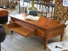 table basse en merisier massif tiroir traversant 1037_1 189e (2)