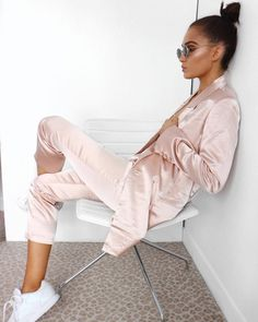 """cc39a86fa162 Alicia Roddy on Instagram  """"In between outfits earlier wearing this  amaaazing satin suit from  missyempire at  stmartinslanesocial"""""""