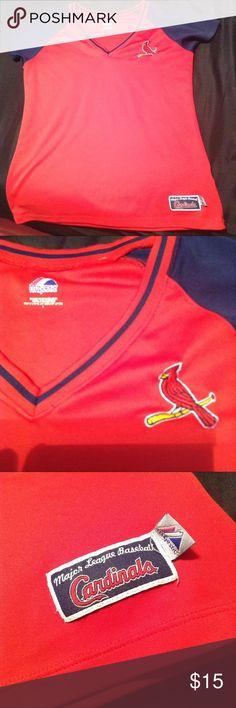St. Louis Cardinals Large Nylon Shirt by Majestic St. Louis Cardinals Large Nylon Shirt by Majestic MLB Major League Baseball Majestic Tops Tees - Short Sleeve