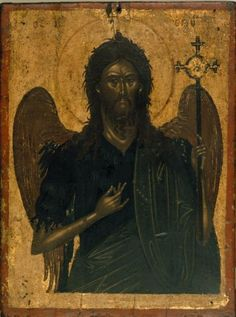 St John the Baptist. c. 1600. Cretan workshop. H. 0.352, W. 0.263 m.  - Benaki Museum