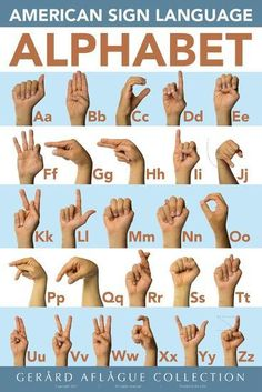 Poster: American Sign Language Classroom by Gerard Aflague Collection : Sign Language Basics, Simple Sign Language, Sign Language For Kids, Sign Language Phrases, Sign Language Alphabet, Learn Sign Language, Sign Language Interpreter, British Sign Language, Classroom Language