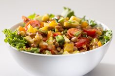 Our first recipe for November: a delicious tepary bean salad with corn and chopped vegetables! http://www.greenlivingaz.com/2013/11/22/recipe-tepary-salad/