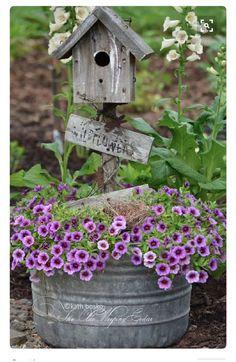 Thrilling About Container Gardening Ideas. Amazing All About Container Gardening Ideas. Country Gardening, Garden Planters, Rustic Gardens, Charming Garden, Garden Containers, Small Front Yard Landscaping, Cottage Garden, Outdoor Gardens, Yard Landscaping