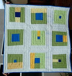 Contemporary quilt for baby