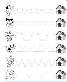 Dog trace worksheet crafts and worksheets for kindergarten drawing preschool pets pet animals worksheetspreschool wo Free Preschool, Preschool Printables, Preschool Learning, Kindergarten Worksheets, Preschool Activities, Pet Theme Preschool, Teaching, Kindergarten Drawing, Tracing Worksheets