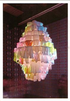 lol need a life....underwear chandelier, fabulous.. by Pipilotti Rist
