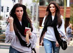 I know she has extensions but I love kim kardashians hair!... - Kim Kardashian Style