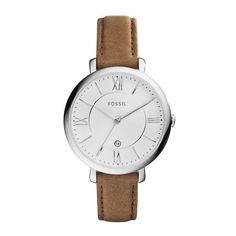 Fossil Jacqueline - Women Wrist Watch on YOOX. The best online selection of Wrist Watches Fossil. Fossil Jacqueline, Brown Leather Strap Watch, Fossil Watches, Women's Watches, Wrist Watches, Watches Online, Saddle Leather, Tan Leather, Necklaces