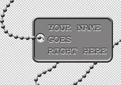 Image result for metal dog tags