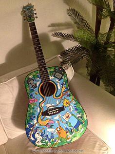 Adventure Time Guitar by Renate Pommerening | Killer Kitsch