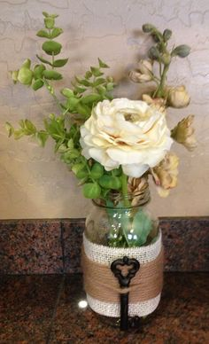 Another Mason Jar idea..I have everything in this picture. I'm gonna do this!