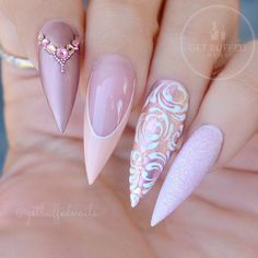 Gleaming Rhinestones Nail Perfection For Incredible Mani ★ See more: https://naildesignsjournal.com/rhinestones-nail-perfection/ #nails