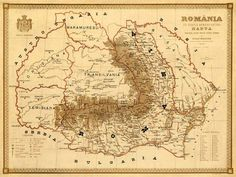Old map of Romania Harta veche Romania Fine by AncientShades Historical Maps, Historical Pictures, Historical Women, Carti Online, History Of Romania, Romania Map, Asian History, British History, Decorative Borders