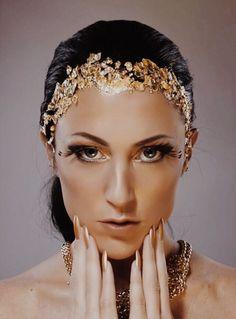 ||glamour gold face|| @elfestyllz