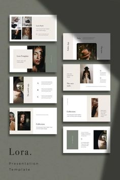 LORA - Modern and Simple Keynote Template,You can find Layout design and more on our website.LORA - Modern and Simple Keynote Template, Portfolio Design Layouts, Template Portfolio, Simple Powerpoint Templates, Keynote Template, Brochure Template, Creative Powerpoint, Planner Template, Layout Template, Flyer Template