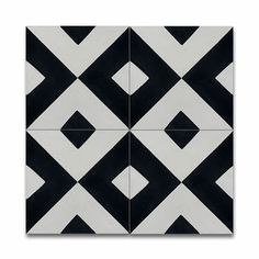 Shop for Jadida White and Black Handmade Cement and Granite Moroccan Tile…