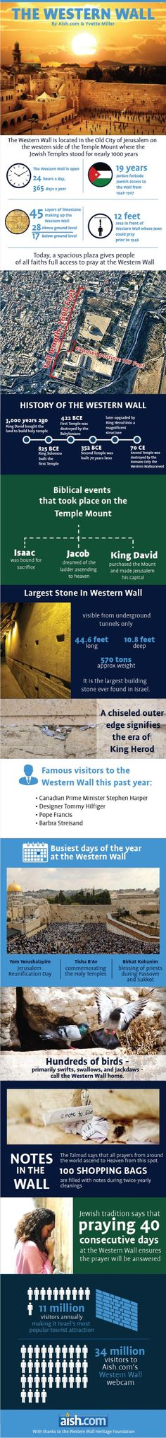 The Western Wall in Jerusalem #Jerusalem #westernwall #infographics
