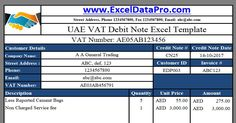 Download Uae Vat Tax Invoice Excel Template As Per The Federal Law