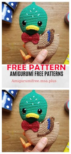 We share the latest free patterns with Amigurumi with you. In this article, amigurumi green headed duck free crochet pattern is waiting for you. Crochet Birds, Cute Crochet, Crochet Animals, Mandala Crochet, Crochet Shawl, Crochet Patterns Amigurumi, Amigurumi Doll, Crochet Dolls, Doll Patterns Free